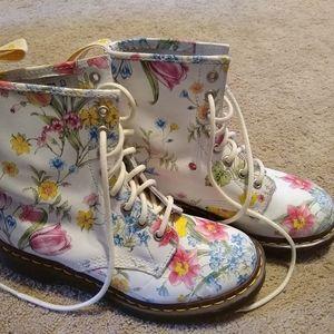 Dr. Martens floral shoes